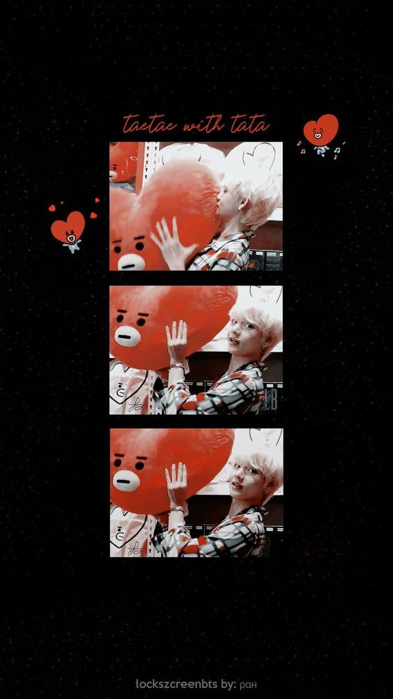 Taehyung Lockscreen Wallpaper This Edit Is Super Cute