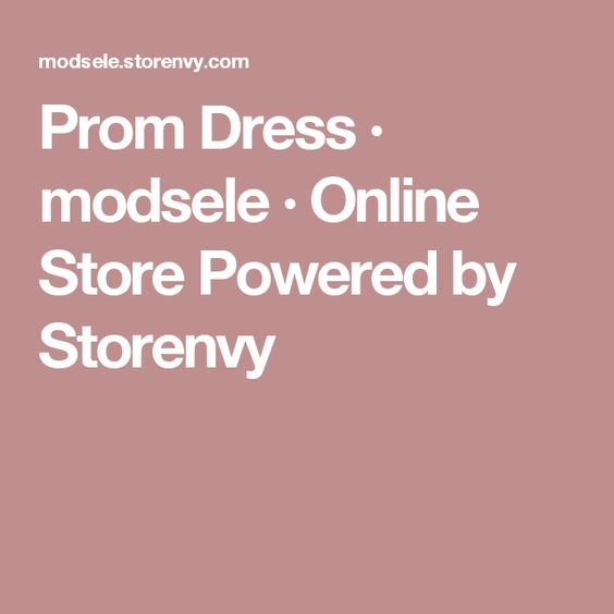 Prom Dress · modsele · Online Store Powered by Storenvy