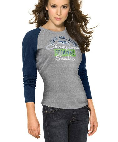 Another great find on #zulily! Seattle Seahawks 'Champions' Long-Sleeve Top - Women #zulilyfinds