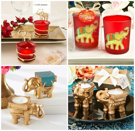 Gold Elephant Candle Holder from HotRef