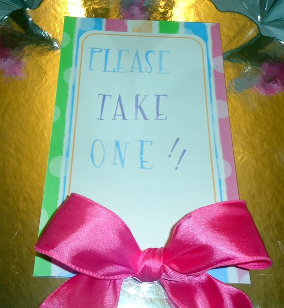 Guest tag to take gift