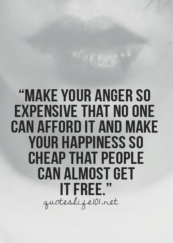 Make your anger expensive: