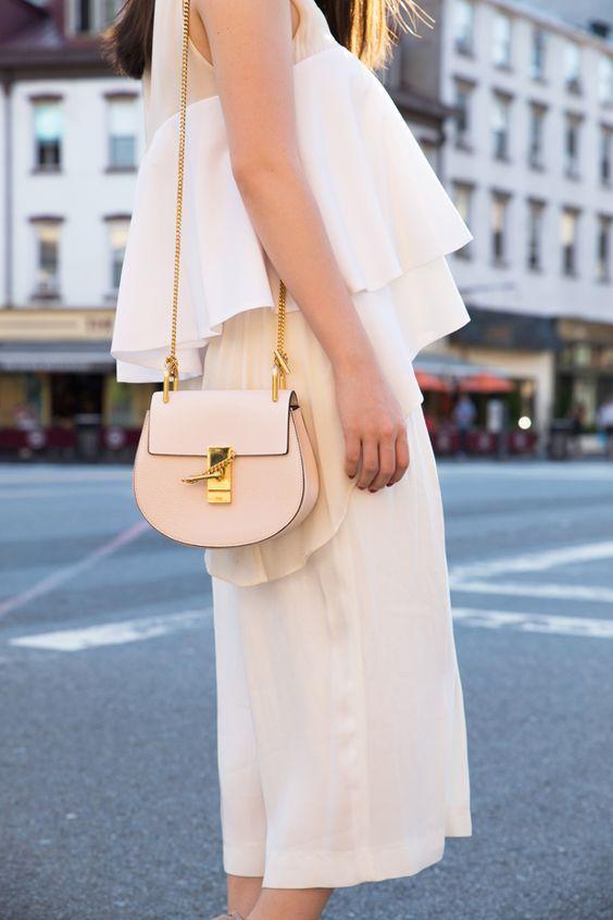 white chloe bag