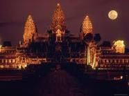 Moon over Angkor Wat