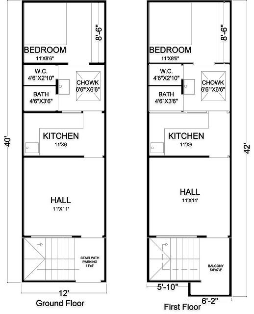12x40 House Plan With 3d Elevation Smart House Plans Model House Plan My House Plans