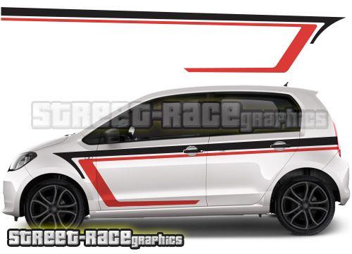 Skoda Citigo Racing Stripe Graphics Skoda Citigo Racing Stripes