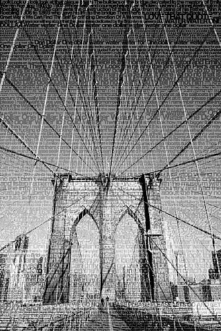 : The Brooklyn Bridge: Manhattan by Stephanie Lempert from Claire Oliver Gallery