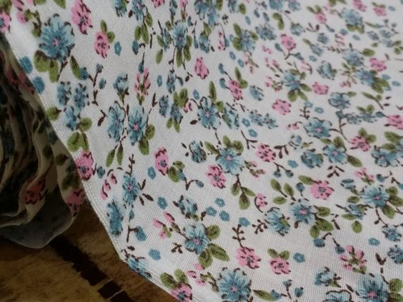 Small floral flowers patchwork Pink/Green Poly by TheFabricShopUK, £3.99
