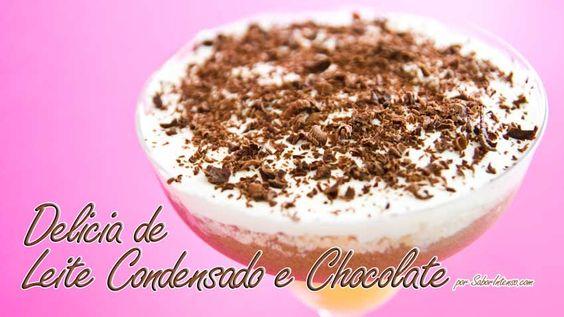 Delícia de Leite Condensado e Chocolate - Página 4   SaborIntenso.com