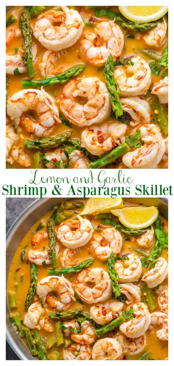 Lemon Garlic Shrimp and Asparagus - Baker by Nature