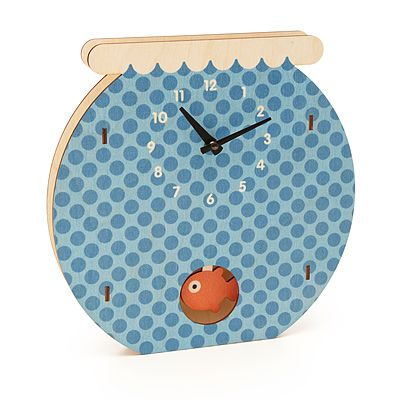 Look what I found at UncommonGoods: fishbowl pendulum clock... for $44 #uncommongoods