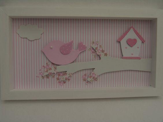 Cuadros para bebes nenas super delicados bebes - Cuadros habitacion ninos ...