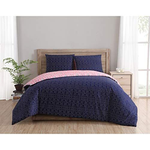 3pc Magenta Pink Navy Blue Dreamcatcher Duvet Cover King Set Native American Bedding Tribal Feathers Pattern Mot Duvet Cover Sets Duvet Sets Bed Linens Luxury