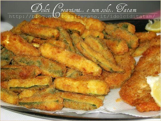 Zucchine Fritte a Bastoncini | ricetta finger food | tatam