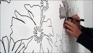 Image result for simple wall painting designs for bedroom