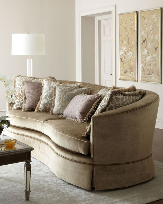 Horchow massoud andrea skirted sofa on for Stores like horchow