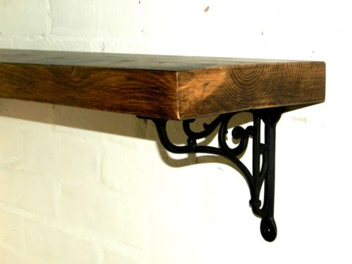 Details About Rustic Solid Wood Mantel Floating Shelf With
