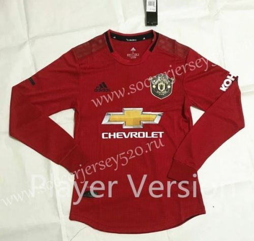 Player Version 2019 2020 Manchester United Home Red Ls Thailand Soccer Jersey Aaa 818 With Images