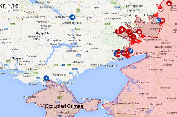 Live Map Of The War In Ukraine Actual Live Version In Comments To - Kremenchuk map