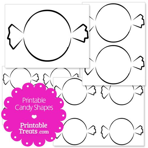 Printable Candy Shapes from PrintableTreats.com | Shapes ...