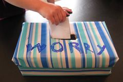 Worry Box - Place worries and unwanted thoughts in this box. #cheerup #livebetter