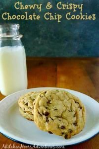 Perfectly crispy on the edges and chewy in the middle, this Crispy and Chewy Chocolate Chip Cookies recipe is one of the go to favorite desserts in our house and I know it will be in yours.