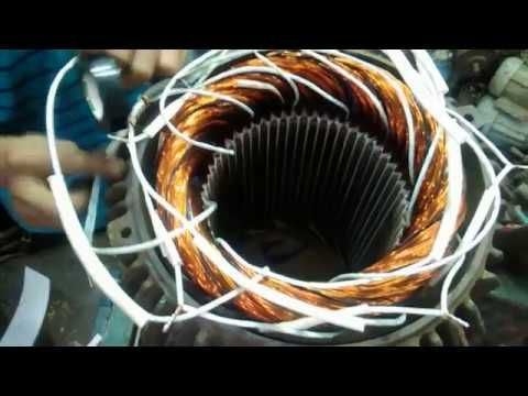 54 Slot 30 Kw Three Phase Induction Motor Winding Connection Hd Youtube In 2020 Induction Motor Slot