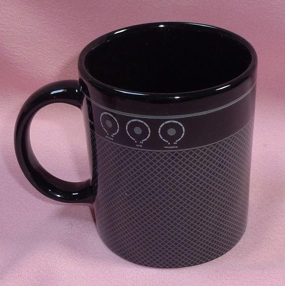 Guitar Amp Black Gray Ceramic Coffee Mug Cup Ceramics