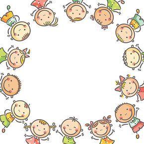 Criancas A Moldura Ilustracao De Arte Vetorial Molduras Para Criancas Moldura Infantil Desenho De Crianca