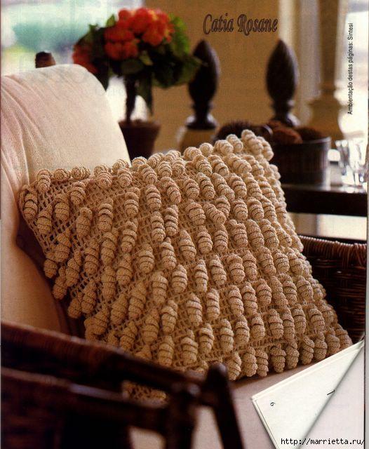 Delicadezas en crochet Gabriela: Almohada voluminosa en crochet