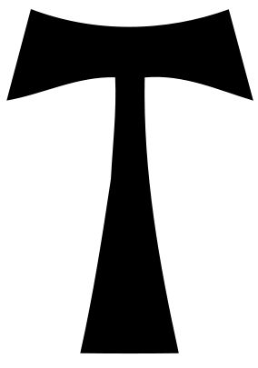 St. Anthony of Egypt bore a cross in the form of a tau on his cloak.[2] The Tau Cross is most commonly used in reference to the Franciscan Order and Saint Francis of Assisi, who adopted it as his personal coat of arms after hearing Pope Innocent III talk about the Tau symbol.[4] It is now  a symbol of the Franciscan Order. and the sign of Taurus.[3]
