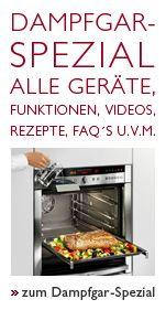 Dampfgarer von Neff: Dampfgarer Kombi - eine Kombination aus Dampfgarer und Backofen läßt Ihre Speisen saftig und trotzdem knusprig werden.