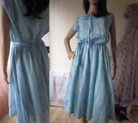 Vintage Kleider - Vintage 60s Kleid Blue Rain 38/40 - ein Designerstück von Kleiderzeitreise bei DaWanda