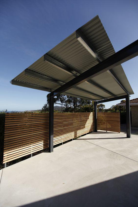 Carport, Blackmans Bay designer by David Travalia and Island Workshop, Built by Island Workshop Construction