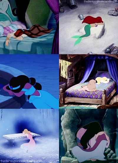 disney taught me that the best way to express sadness is to throw yourself on the nearest object and sob. lol