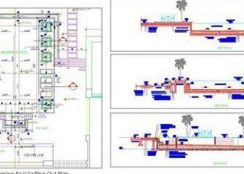 Twin House Space Planning 30 X50 Floor Layout Dwg Free Download Autocad Dwg Plan N Design In 2020 Floor Layout Space Planning Three Bedroom House Plan