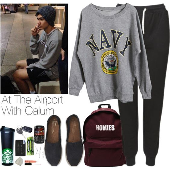 """""""At The Airport With Calum"""" by hana-69 on Polyvore"""