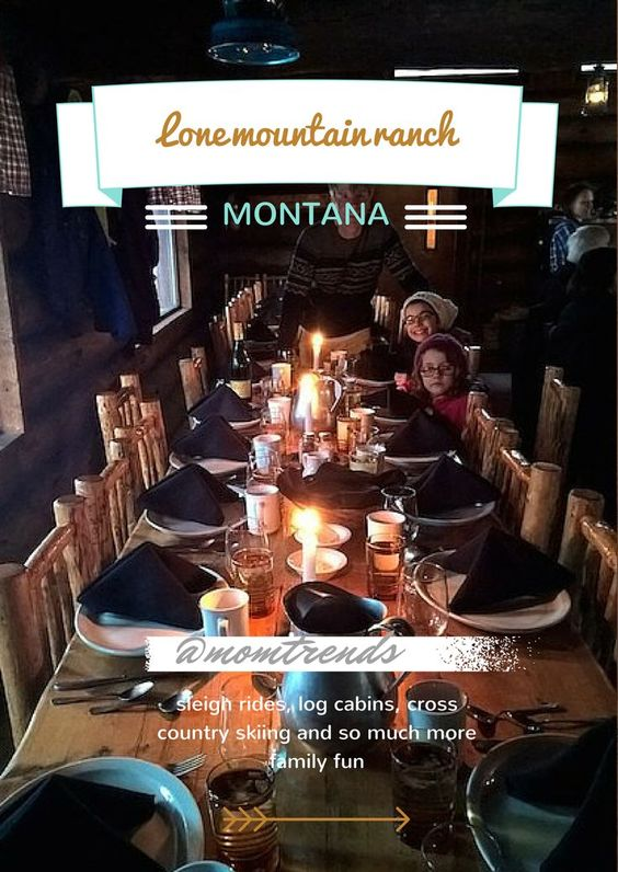 Lone Mountain Ranch Montana family vacation planning for winter fun. Ideas for cross country skiing, sleigh rides and where to stay.
