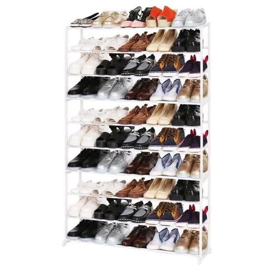 Homdox Etagere A Chaussures 10 Niveau Portable Organisateur Meuble Chaussure Etagere Chaussures Rangement A Chaussures