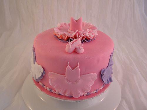 Ballet dance birthday cake