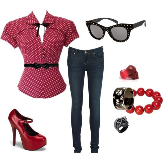"""""""Red"""" by tara-walker on Polyvore"""