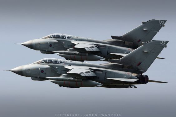 Royal Air Force Panavia Tornado GR4 ZD792-100 & ZG791-137 - RAF Lossiemouth