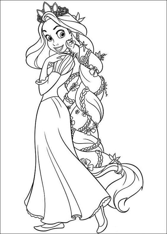 Coloring Book Page In 2021 Tangled Coloring Pages Rapunzel Coloring Pages Disney Princess Coloring Pages