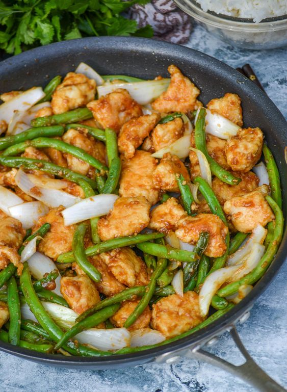 Copy Cat Panda Express Chicken & Green Beans