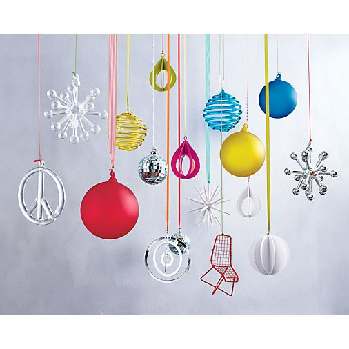 drop sculpture white ornament in shop holiday | CB2