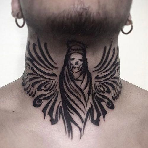 Front Neck Tattoos For Men Best Neck Tattoos For Men Cool Neck Tattoo Ideas And Designs For Guys Ta Front Neck Tattoo Neck Tattoo For Guys Tattoos For Guys
