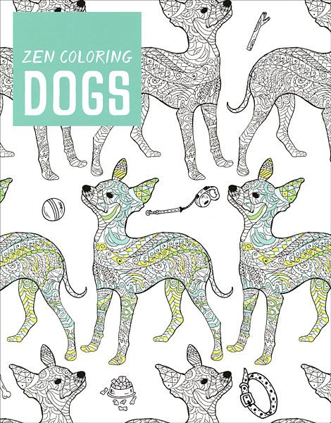 Zen Coloring: Dogs