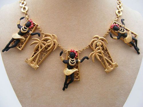 ASKEW LONDON DANCING BLACKAMOOR NECKLACE