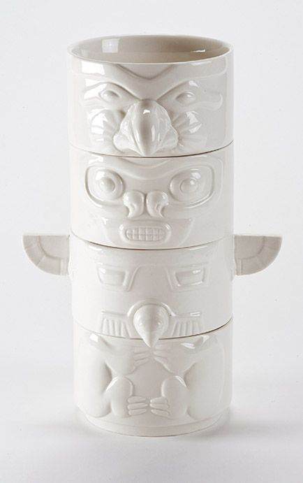 Stackable totem bowls= MED's wedding present one day