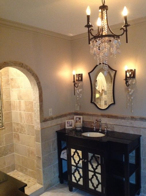 Charming master bath redo we moved from ny to mi into a for Tudor bathroom design